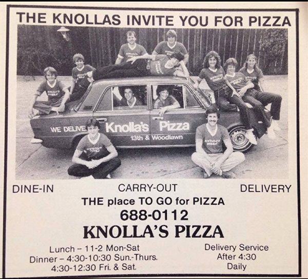 1982 Pizza Delivery Ad
